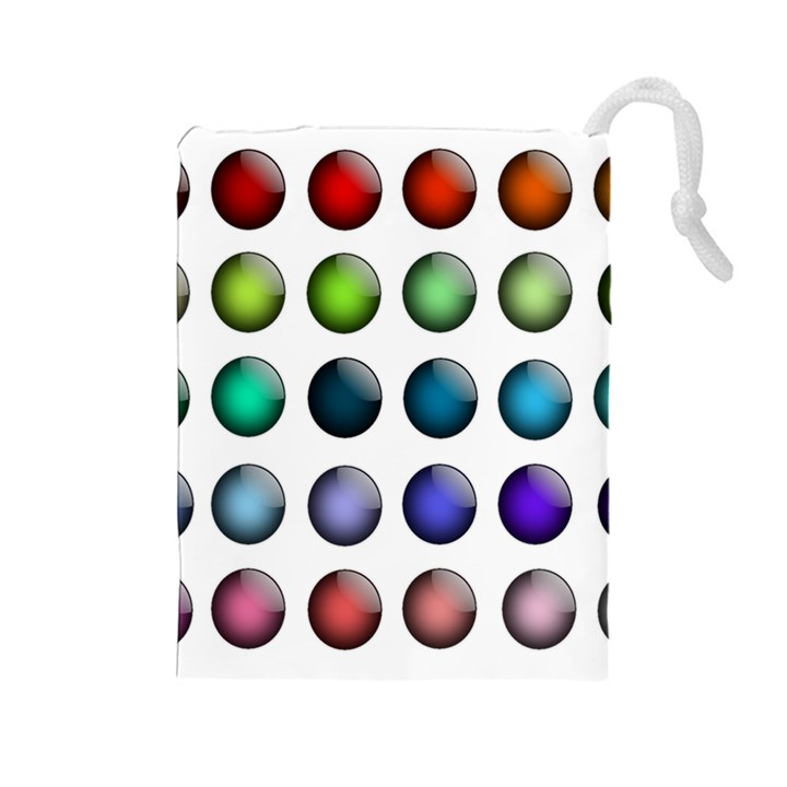 Button Icon About Colorful Shiny Drawstring Pouches (Large)