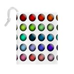 Button Icon About Colorful Shiny Drawstring Pouches (Large)  Back
