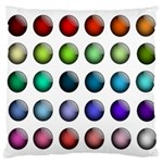 Button Icon About Colorful Shiny Large Flano Cushion Case (Two Sides) Back
