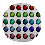 Button Icon About Colorful Shiny Large 18  Premium Flano Round Cushions Front