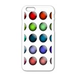 Button Icon About Colorful Shiny Apple iPhone 6/6S White Enamel Case Front