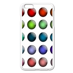 Button Icon About Colorful Shiny Apple iPhone 6 Plus/6S Plus Enamel White Case