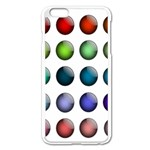 Button Icon About Colorful Shiny Apple iPhone 6 Plus/6S Plus Enamel White Case Front