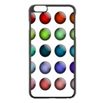 Button Icon About Colorful Shiny Apple iPhone 6 Plus/6S Plus Black Enamel Case Front