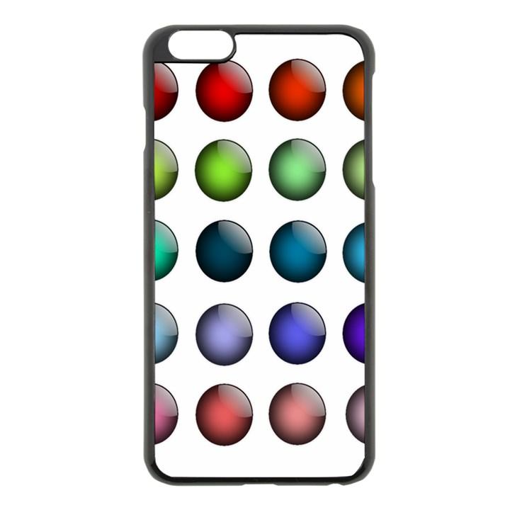 Button Icon About Colorful Shiny Apple iPhone 6 Plus/6S Plus Black Enamel Case