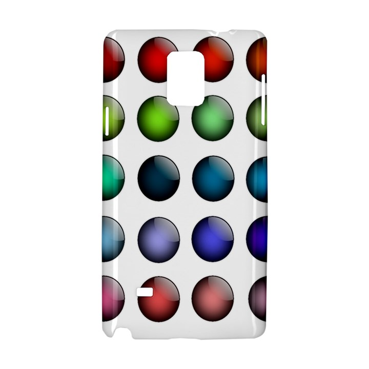 Button Icon About Colorful Shiny Samsung Galaxy Note 4 Hardshell Case