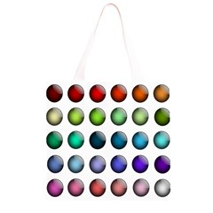Button Icon About Colorful Shiny Grocery Light Tote Bag