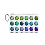 Button Icon About Colorful Shiny Canvas Cosmetic Bag (S) Front