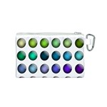 Button Icon About Colorful Shiny Canvas Cosmetic Bag (S) Back