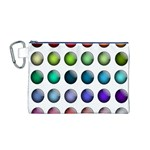 Button Icon About Colorful Shiny Canvas Cosmetic Bag (M) Front