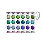 Button Icon About Colorful Shiny Canvas Cosmetic Bag (M) Back