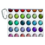Button Icon About Colorful Shiny Canvas Cosmetic Bag (XXL) Front