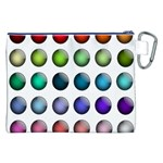 Button Icon About Colorful Shiny Canvas Cosmetic Bag (XXL) Back