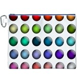 Button Icon About Colorful Shiny Canvas Cosmetic Bag (XXXL) Front