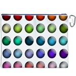 Button Icon About Colorful Shiny Canvas Cosmetic Bag (XXXL) Back