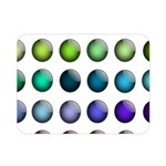 Button Icon About Colorful Shiny Double Sided Flano Blanket (Mini)  35 x27 Blanket Front
