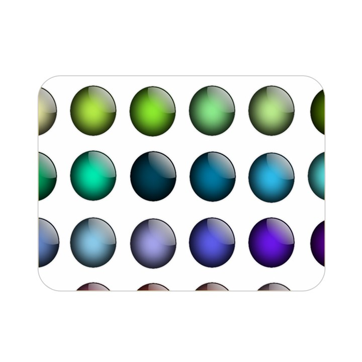 Button Icon About Colorful Shiny Double Sided Flano Blanket (Mini)