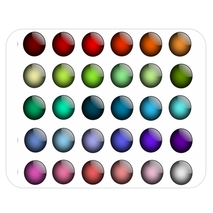 Button Icon About Colorful Shiny Double Sided Flano Blanket (Medium)