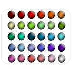 Button Icon About Colorful Shiny Double Sided Flano Blanket (Medium)  60 x50 Blanket Back