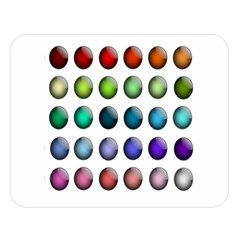 Button Icon About Colorful Shiny Double Sided Flano Blanket (Large)