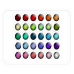 Button Icon About Colorful Shiny Double Sided Flano Blanket (Large)  80 x60 Blanket Front