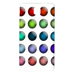 Button Icon About Colorful Shiny Galaxy Note 4 Back Case