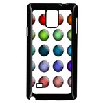 Button Icon About Colorful Shiny Samsung Galaxy Note 4 Case (Black) Front
