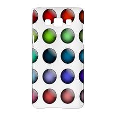 Button Icon About Colorful Shiny Samsung Galaxy A5 Hardshell Case