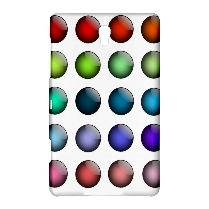 Button Icon About Colorful Shiny Samsung Galaxy Tab S (8.4 ) Hardshell Case