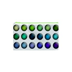 Button Icon About Colorful Shiny Cosmetic Bag (XS)