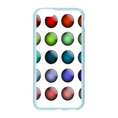 Button Icon About Colorful Shiny Apple Seamless iPhone 6/6S Case (Color)