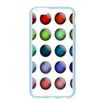 Button Icon About Colorful Shiny Apple Seamless iPhone 6/6S Case (Color) Front