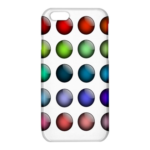 Button Icon About Colorful Shiny iPhone 6/6S TPU Case