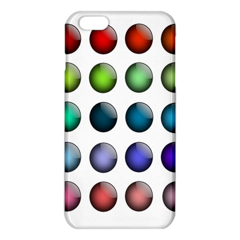 Button Icon About Colorful Shiny iPhone 6 Plus/6S Plus TPU Case
