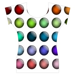 Button Icon About Colorful Shiny Women s Cap Sleeve Top