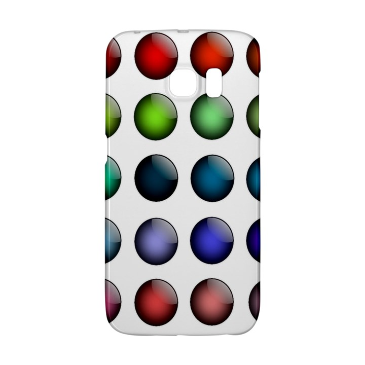 Button Icon About Colorful Shiny Galaxy S6 Edge