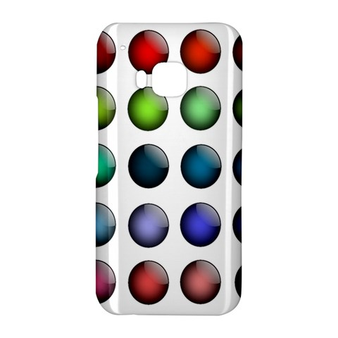Button Icon About Colorful Shiny HTC One M9 Hardshell Case