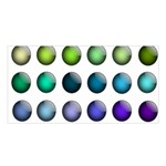 Button Icon About Colorful Shiny Satin Shawl Front