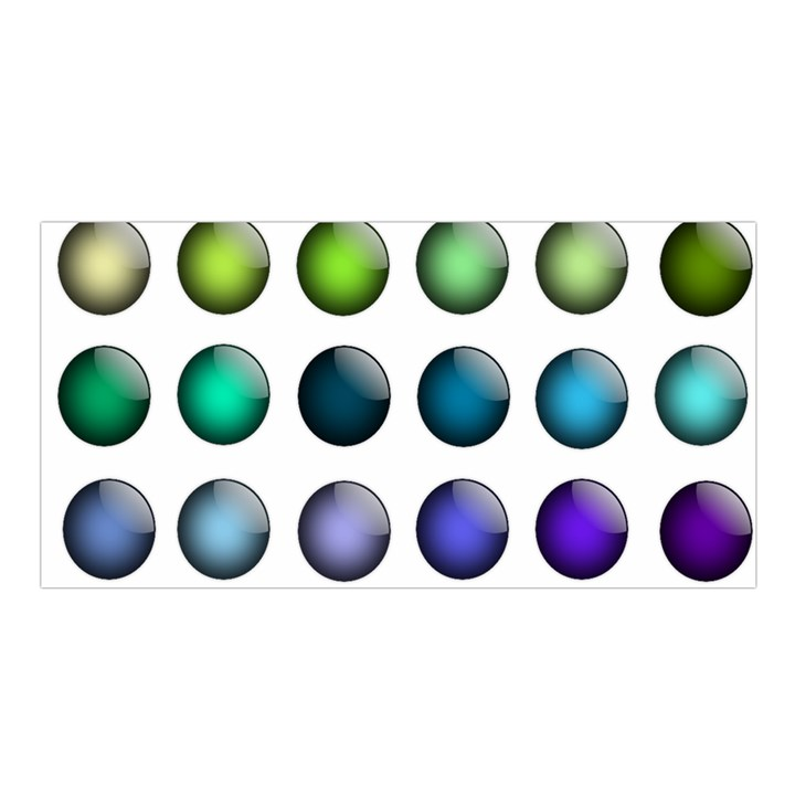 Button Icon About Colorful Shiny Satin Shawl