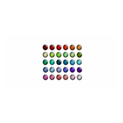 Button Icon About Colorful Shiny Satin Wrap