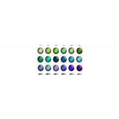 Button Icon About Colorful Shiny Satin Scarf (Oblong)