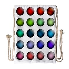 Button Icon About Colorful Shiny Drawstring Bag (Large)