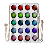 Button Icon About Colorful Shiny Drawstring Bag (Large) Front