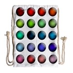 Button Icon About Colorful Shiny Drawstring Bag (Large) Back