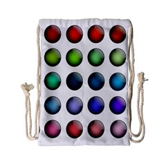 Button Icon About Colorful Shiny Drawstring Bag (Small)