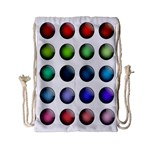 Button Icon About Colorful Shiny Drawstring Bag (Small) Front
