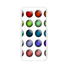 Button Icon About Colorful Shiny Apple Seamless iPhone 6/6S Case (Transparent)