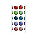Button Icon About Colorful Shiny Apple Seamless iPhone 6/6S Case (Transparent) Front