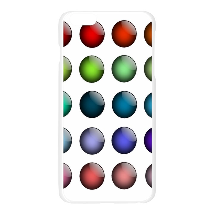 Button Icon About Colorful Shiny Apple Seamless iPhone 6 Plus/6S Plus Case (Transparent)