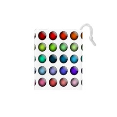 Button Icon About Colorful Shiny Drawstring Pouches (XS)